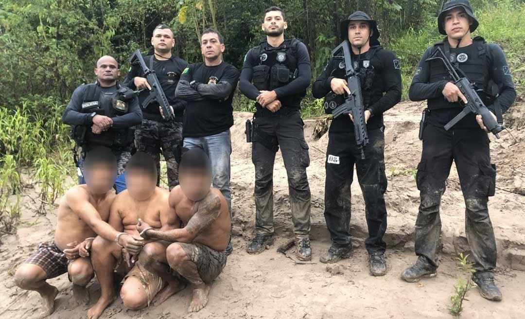 Policiais de Tarauacá e Feijó prendem trio que matou colono no rio Envira