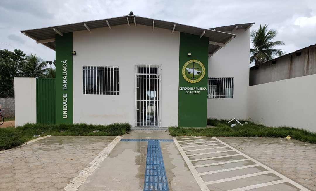 Novo prédio da Defensoria continua fechado e Tarauacá continua sem defensor público