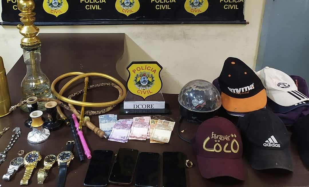 Quadrilha que roubou mais de 12 comércios em Rio Branco é presa pela Polícia Civil