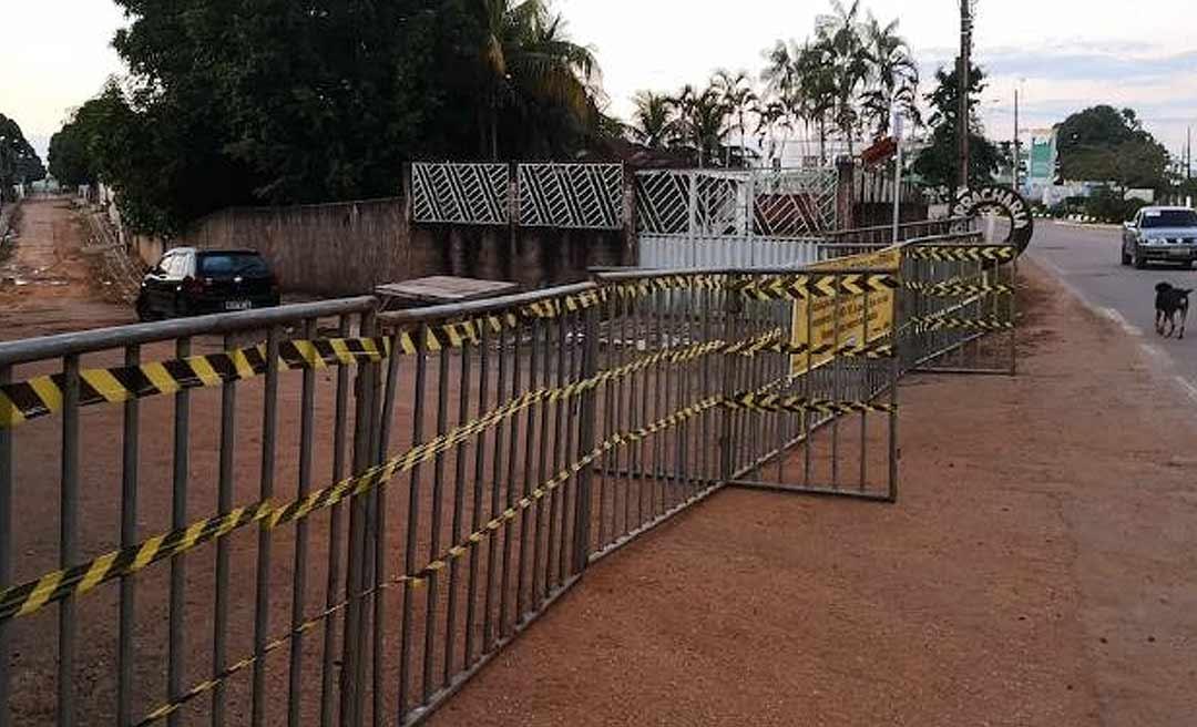 Brasileia interdita ruas temendo avanço do coronavírus