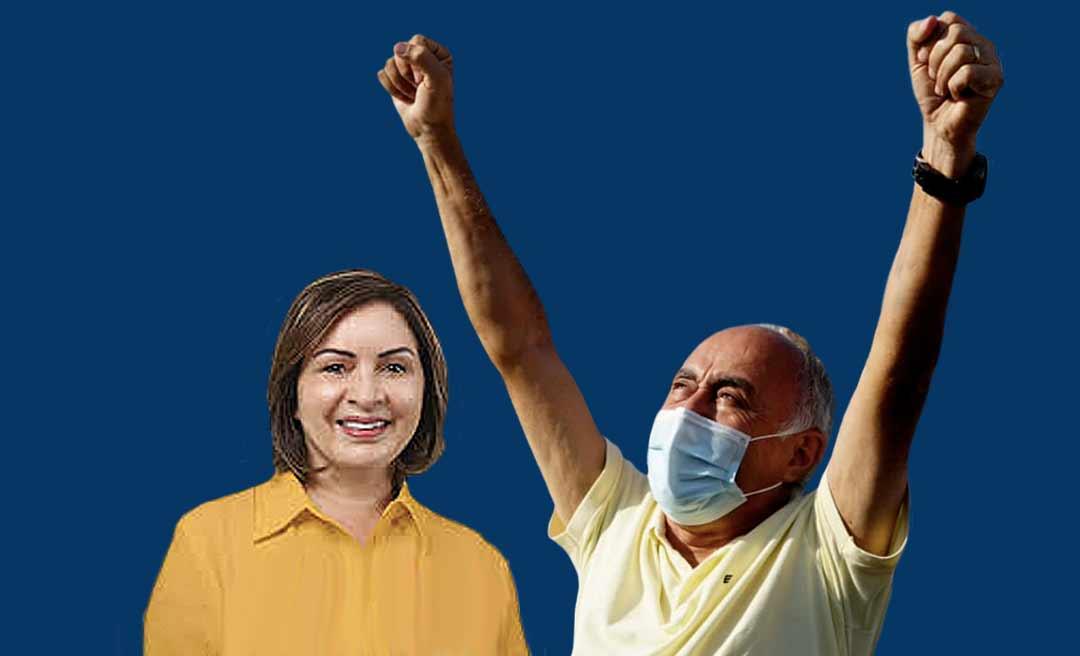 IBOPE: Tião Bocalom tem 65% das intenções de voto; Socorro Neri, 28%