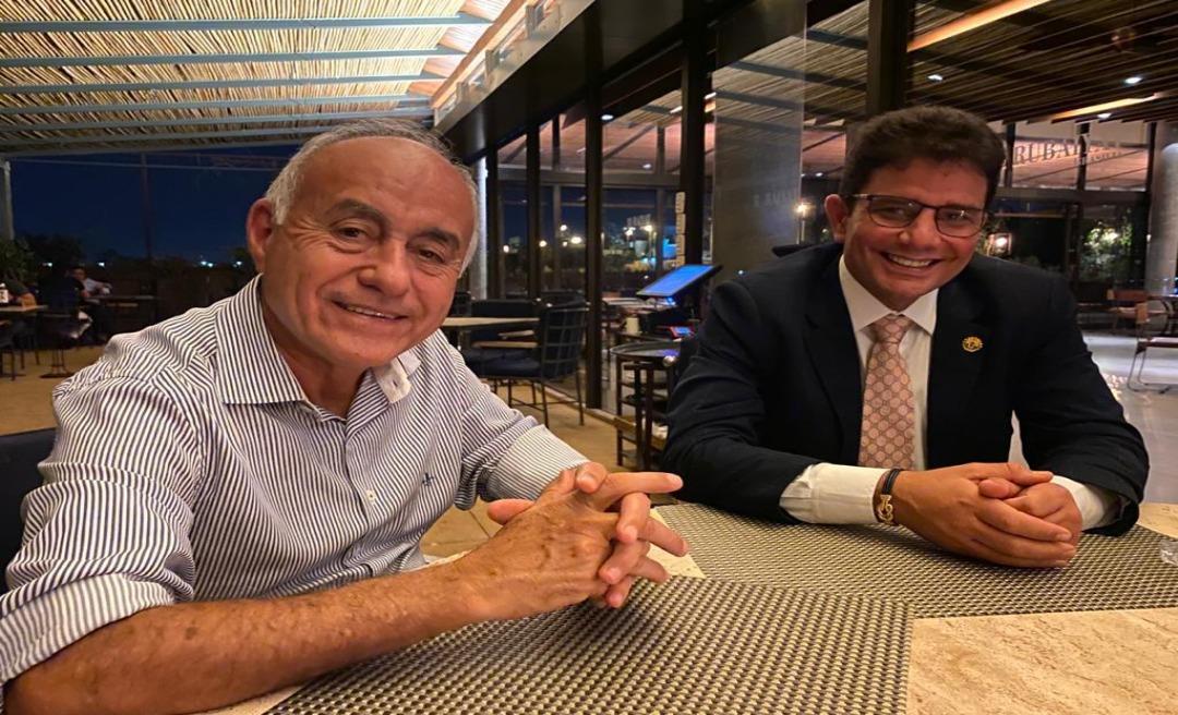 """Em jantar em Brasília, Gladson e Bocalom desmontam """"palanque"""" e conversam sobre parcerias: """"Precisamos dar resultado"""""""