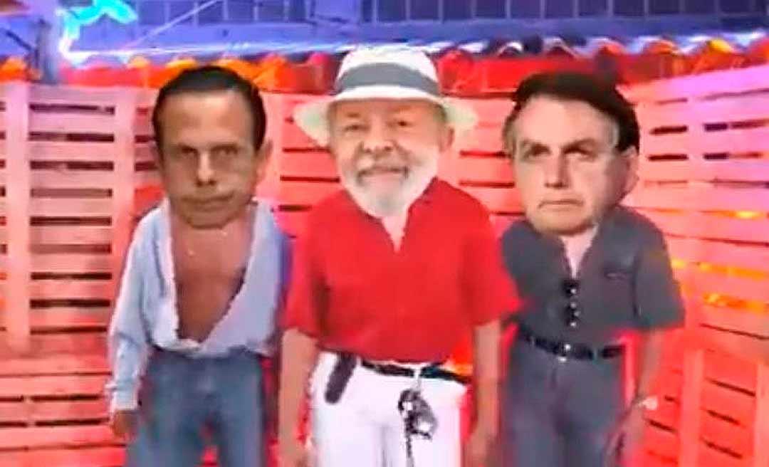 Paródia com presidenciáveis viraliza na internet e mostra Lula, Doria e Bolsonaro no páreo