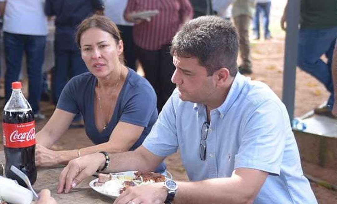 Em pré-campanha ao Senado, Márcia Bittar participa de churrasco com Gladson, a quem ainda não convenceu