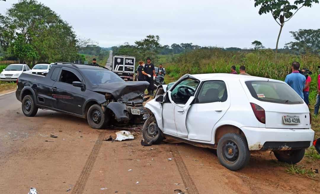 No Bujari, trabalhador rural perde o controle da direção, bate frontalmente contra veículo e morre