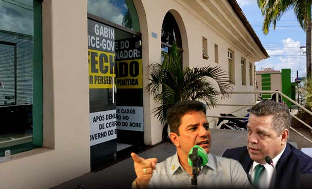 """Assessoria do governo afirma que """"Cameli não aceitará medidas politiqueiras de prédios públicos"""" e detona Major Rocha"""