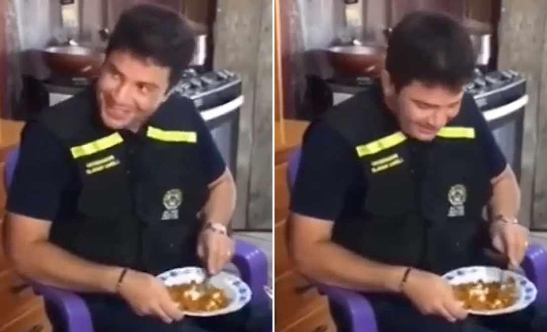 """Vídeo de Gladson pedindo """"farinhazinha"""" para comer com carne moída e ovo em ramal de Sena viraliza nas redes"""